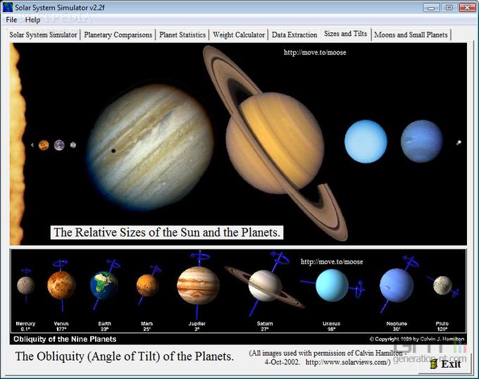 Solar System 3D Simulator screen2
