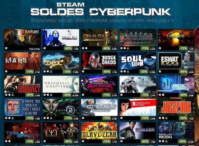 Soldes Steam cyberpunk