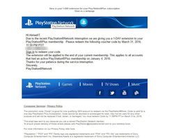 Sony dedommagement PSN