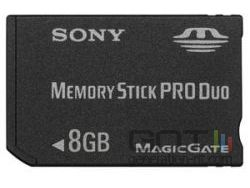 Sony memory stick 8 go small
