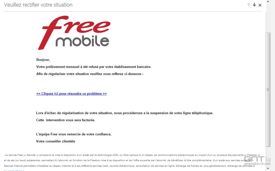 escroquerie free mobile