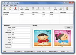 Stamp Collection Manager screen1