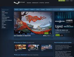 Steam - page accueil