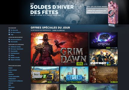 Steam soldes hiver 2016