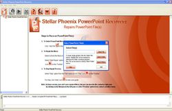 Stellar Phoenix PowerPoint Recovery  screen