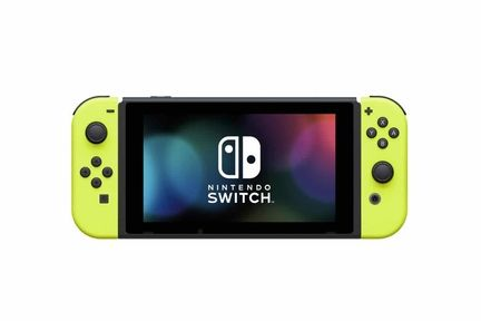 Switch joy con jaune neon