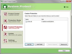 System Protect screen1