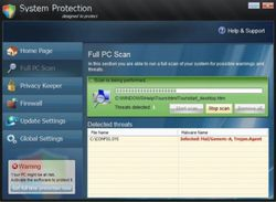 System Protect screen2