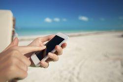 téléphone plage