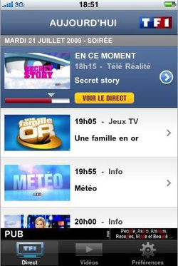 TF1 Player iPhone 01