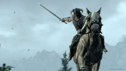 The Elder Scrolls V Skyrim - combats cheval