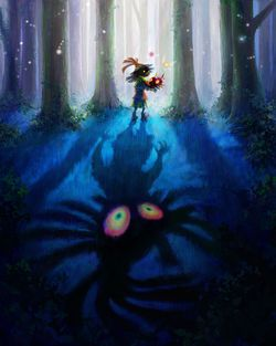 The Legend of Zelda Majora Mask - artwork