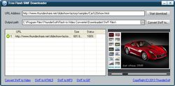 ThunderSoft Free SWF Downloader screen2