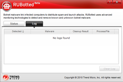 Trend Micro RUBotted screen 1