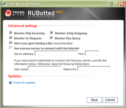 Trend Micro RUBotted screen 2