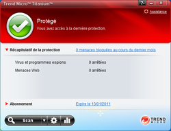 Trend Micro Titanium Security for Netbooks screen 2