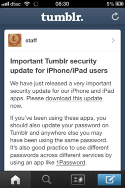tumblr securité