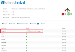 Turla-Linux-detection-virustotal