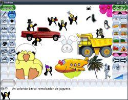Tux Paint Portable screen 1