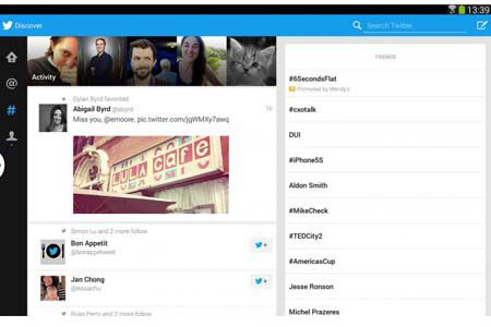twitter android hd