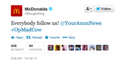 Twitter Burger king McDonald's 2