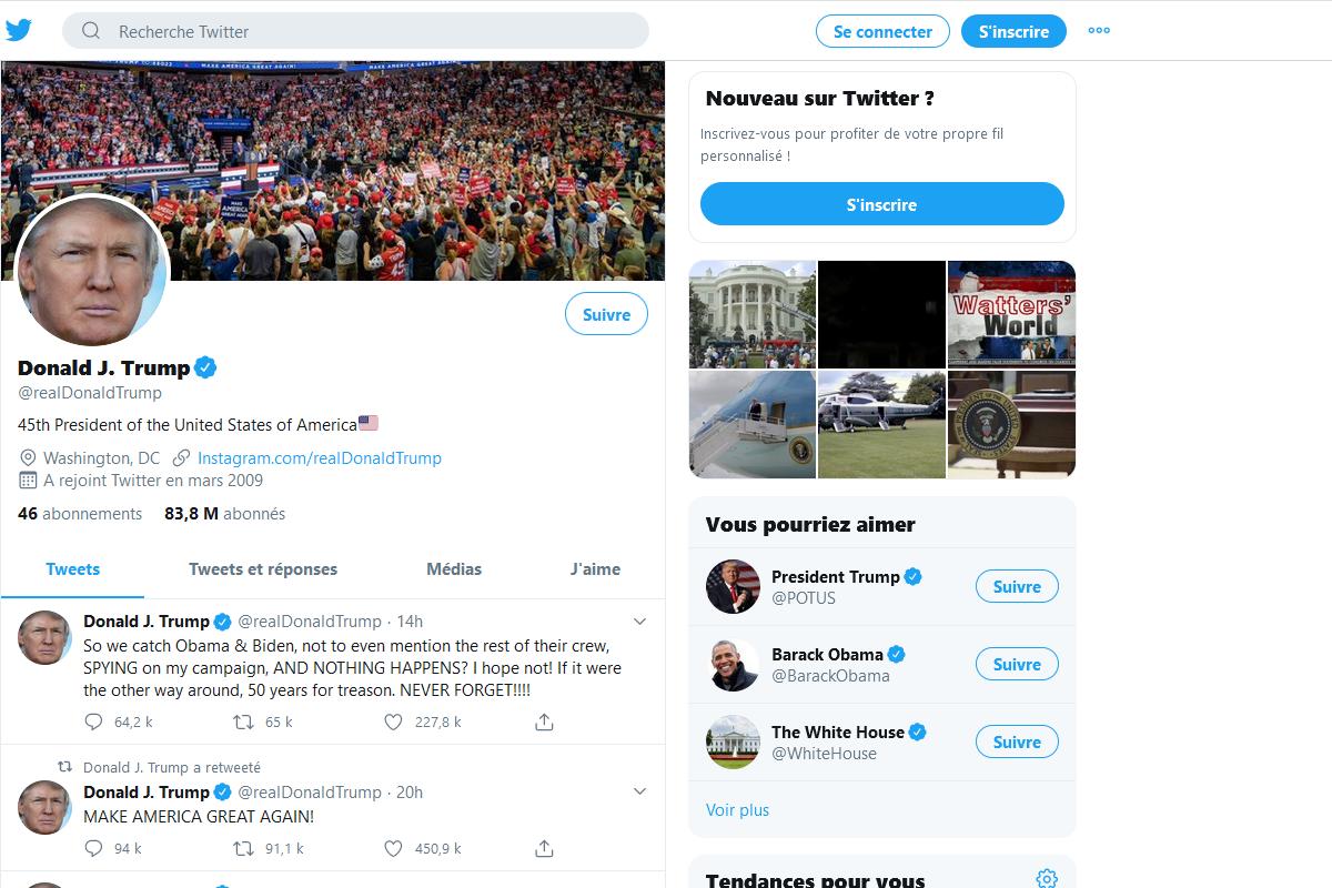 Twitter supprime une vidéo dans un retweet de Donald Trump