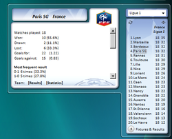UEFA Informer Gadget screen 1