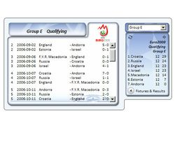 UEFA Informer Gadget screen 2