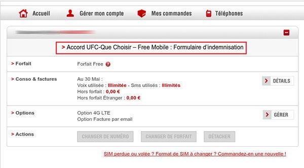 Qualité de service mobile - Accord UFC-Que Choisir - Free Mobile