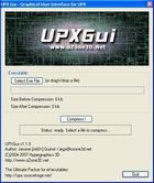 UPX Graphical : compresser des fichiers EXE