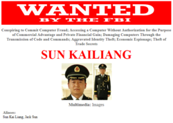 USA-FBI-Chine-officiers-hackers-Sun-Kailiang