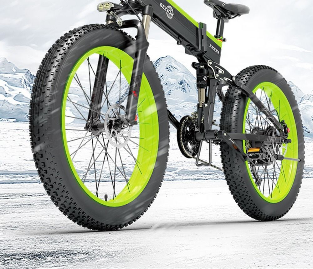 The BEZIOR X1000 electrical mountain bike in potent promotion