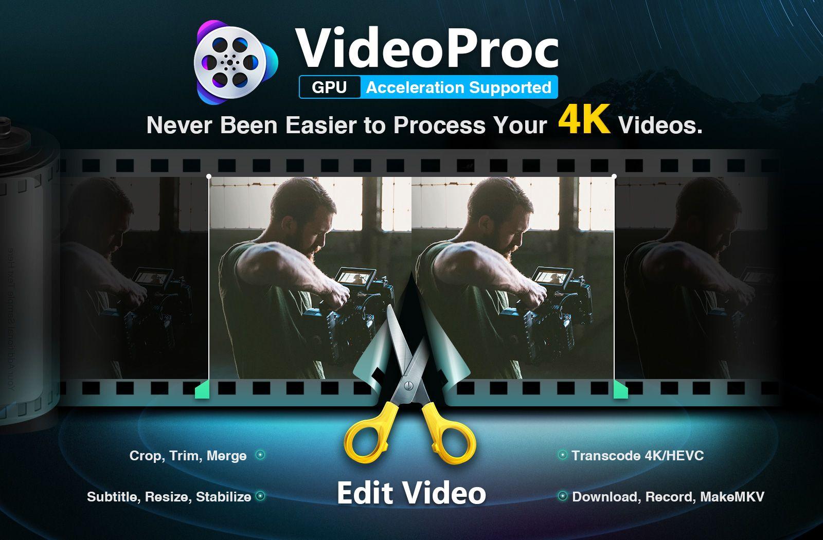 Obtenir VideoProc gratuitement, le logiciel d'édition vidéo de Digiarty (offre limitée dans le temps)