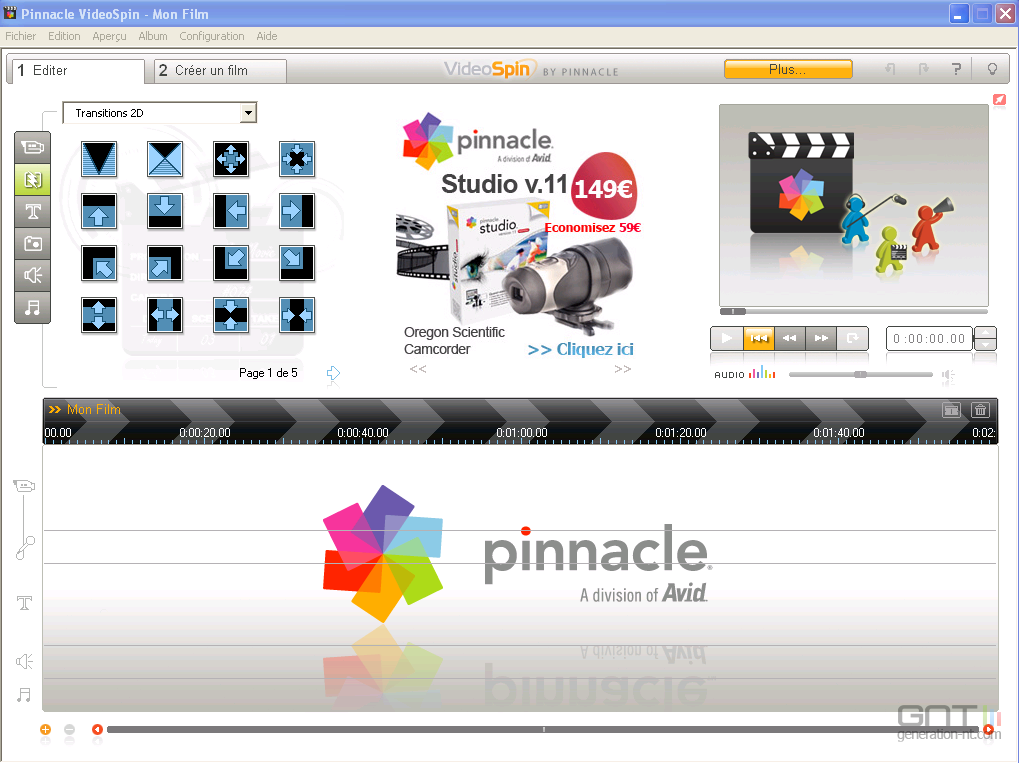 Videospin editer for Logiciel montage cuisine gratuit