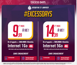 Virgin Mobile Excess Days 4G
