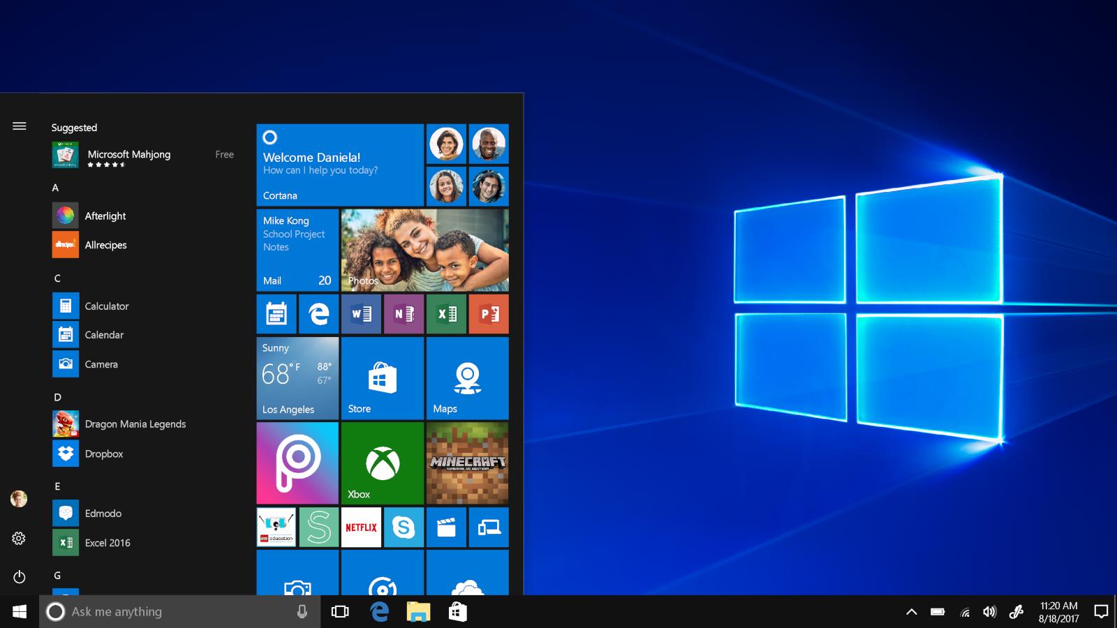 Windows 10 : un menu Démarrer sans les vignettes dynamiques?