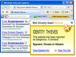 Web Security Guard screen