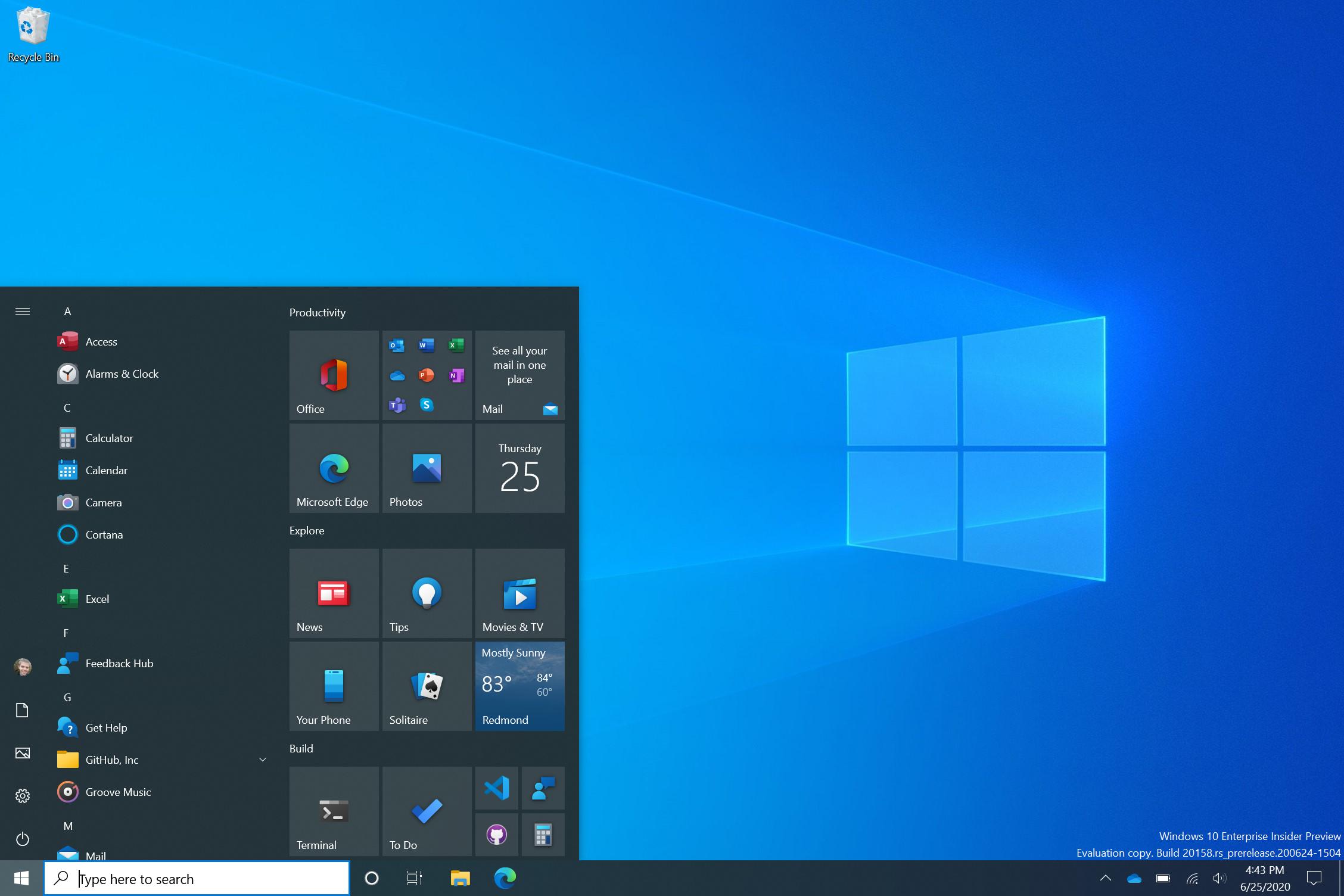 Windows 10 : on peut déjà activer le nouveau menu démarrer