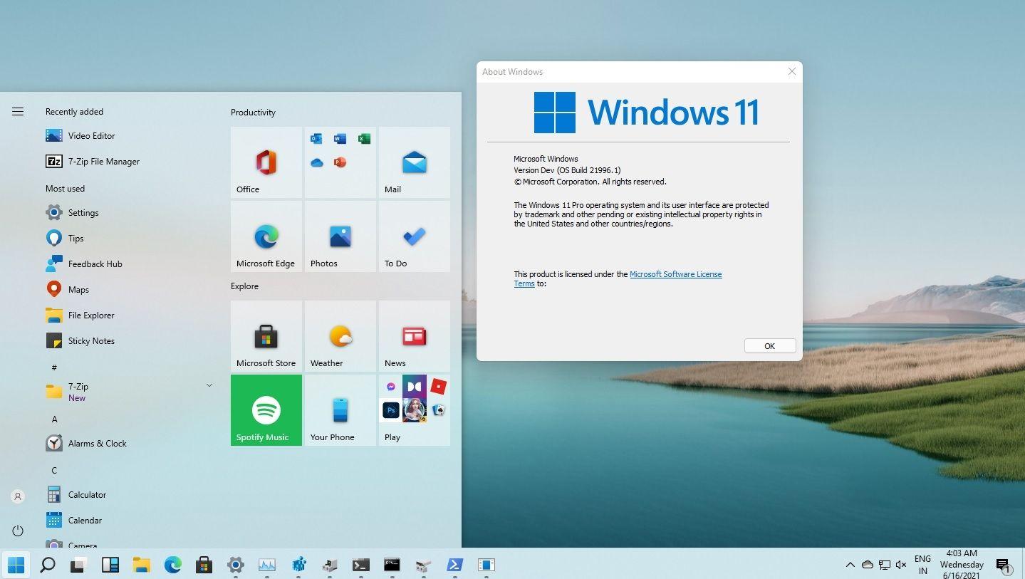 Windows 11 live tiles