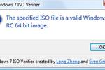 Windows 7 ISO Verifier : tester la validité des copies ISO de Windows 7