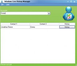 Windows Live History Manager screen2