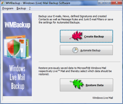 Windows Live Mail Backup screen2