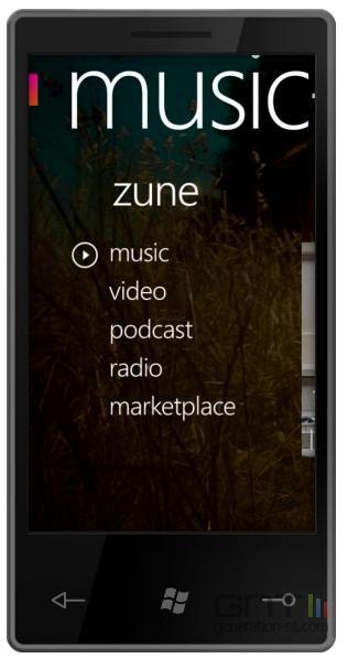 Windows Phone 7 Series Zune