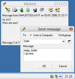 WinSent Messenger screen2