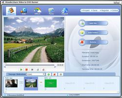 Wondershare Video to DVD Burner screen 1