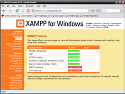XAMPP screen1