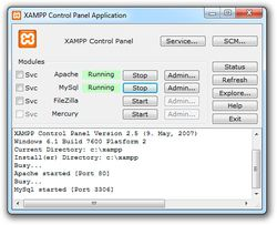 XAMPP screen2