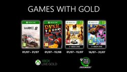 Xbox Live Games with Gold juillet 2020
