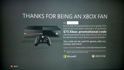 Xbox One promotion Xbox Live