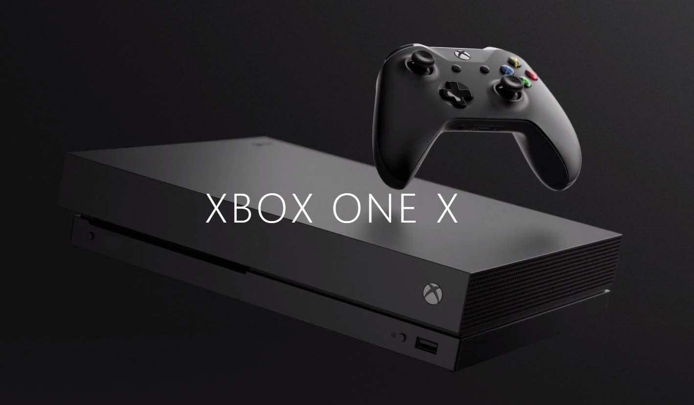 microsoft pr sente sa xbox one x date et prix. Black Bedroom Furniture Sets. Home Design Ideas